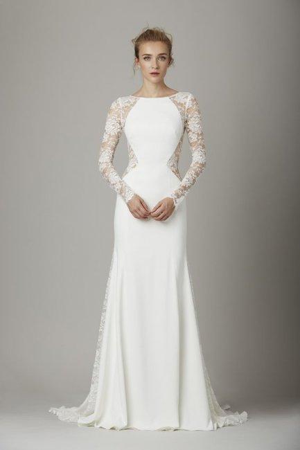 54f54b051eb8586 Прямые свадебные платья: советы по выбору (фото)