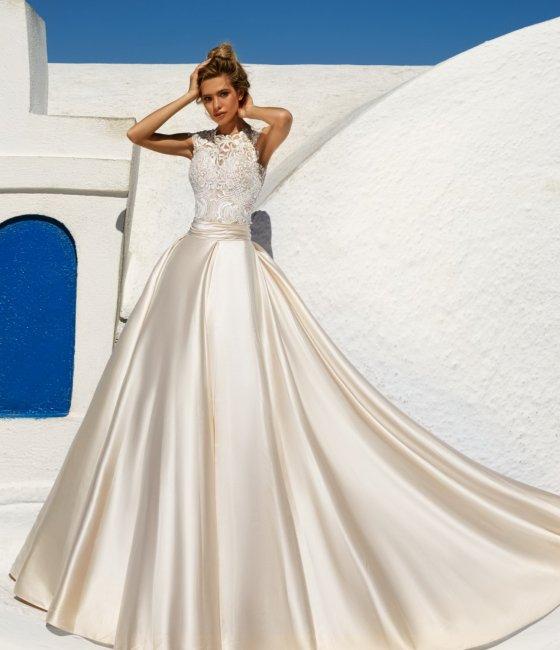 6f7f71b230a2c04 Атласные свадебные платья: фото лучших моделей и фасонов