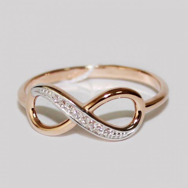 Кольцо с знаком бесконечности фото