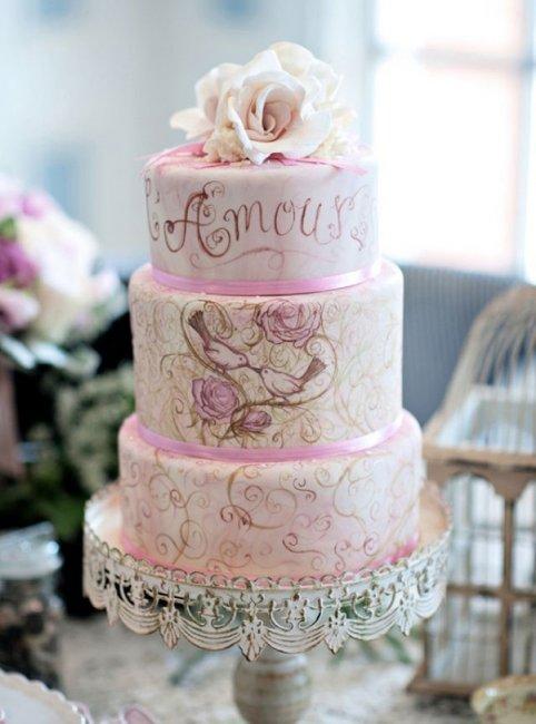 Декор свадебного торта