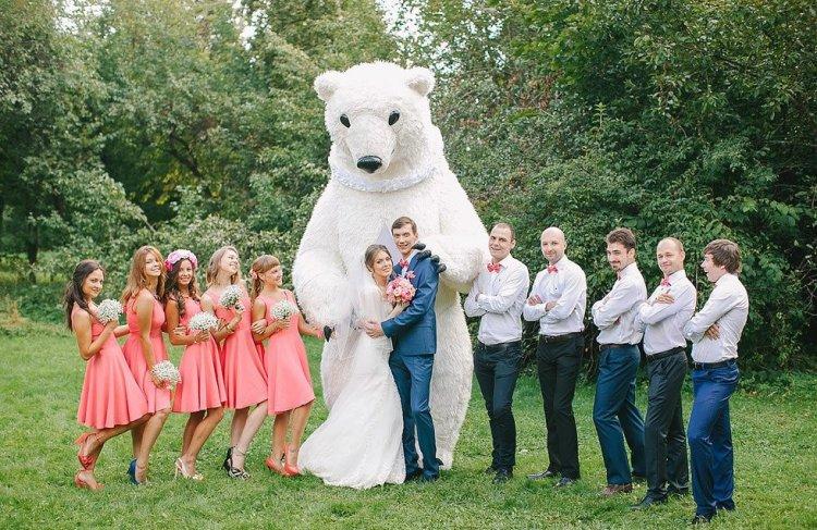 Большие куклы на свадьбе