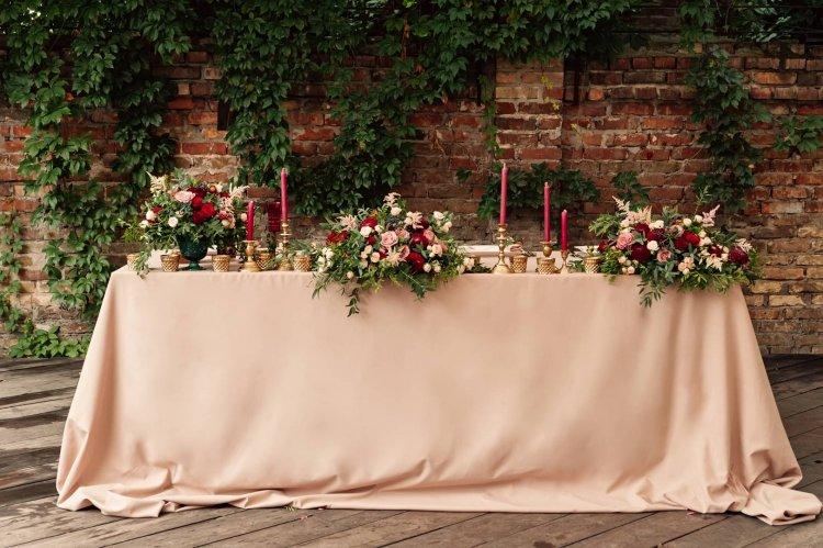 Идеи декора свадебных столов