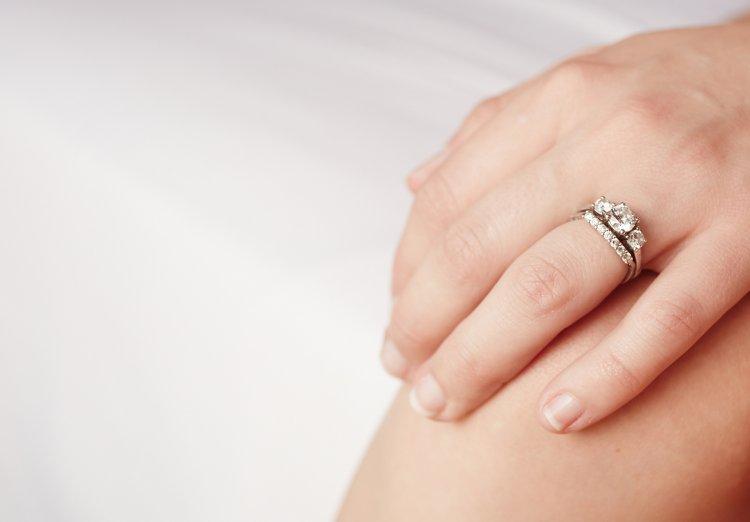 Обручальное и помолвочные кольца