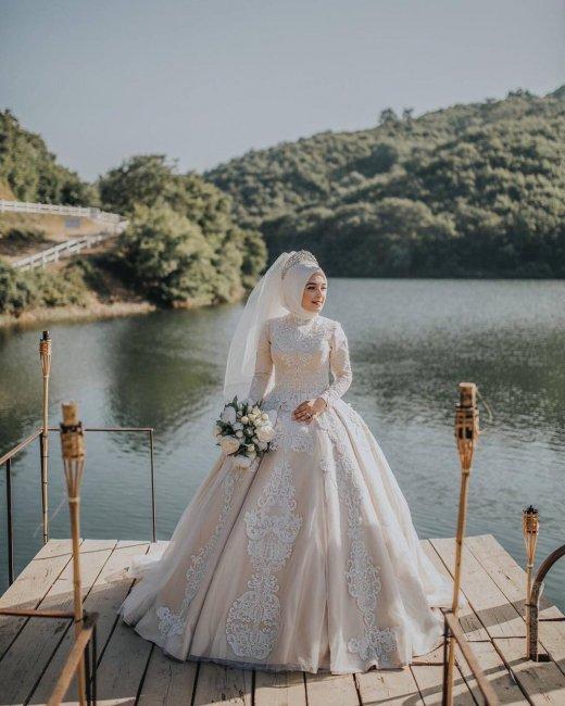 b34c9a6235d1e0e Мусульманские свадебные платья: фото самых эффектных нарядов