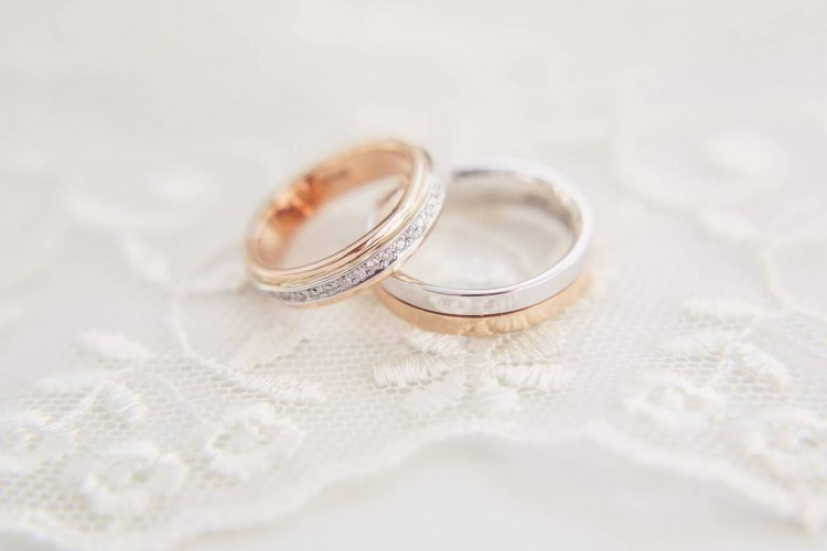 Серебряно-золотые кольца