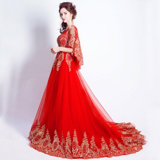 bf4a9fde228 Красное свадебное платье  лучшие фасоны и аксессуары (фото)