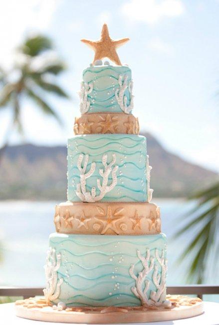 Свадебный торт из мастики для тематической свадьбы