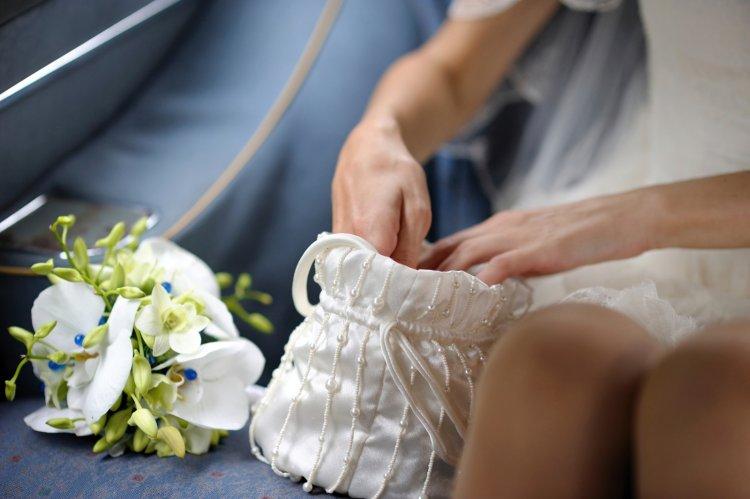 Свадебный клатч-кисет