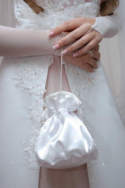 Свадебная сумочка мешочек