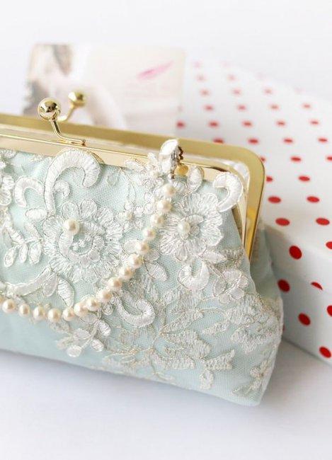 Свадебный клатч для невесты в форме кошелька
