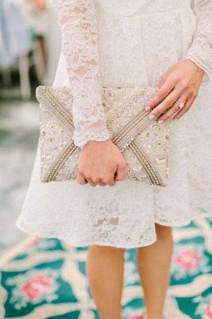 Свадебный клатч-конверт