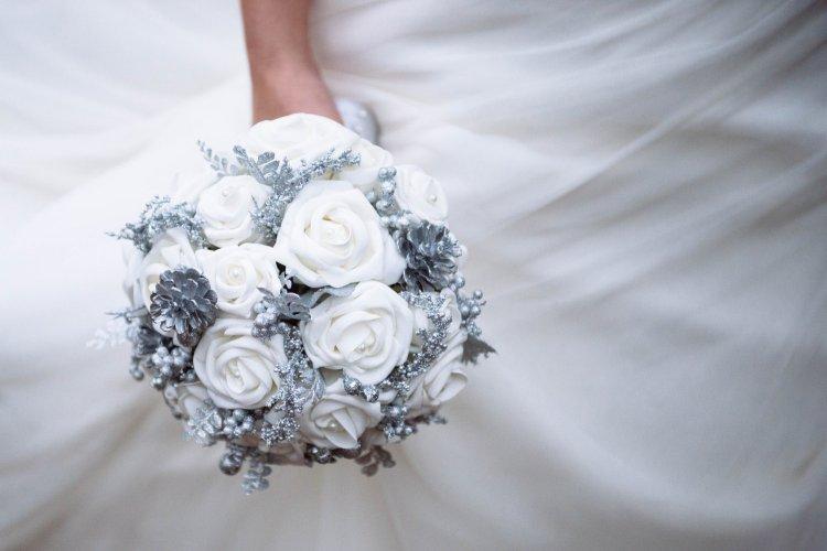 Букет, букет на серебряную свадьбу купить