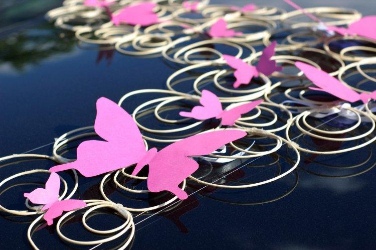 Свадебное украшение с бабочками