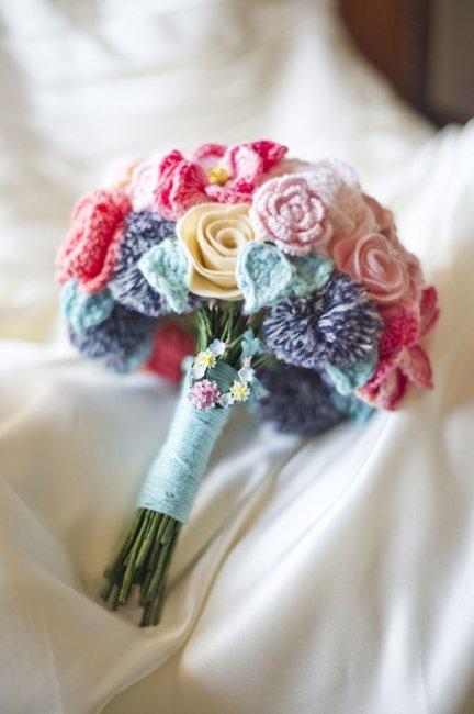 Вязаная свадьба: идеи для оформления, свадебное платье ...