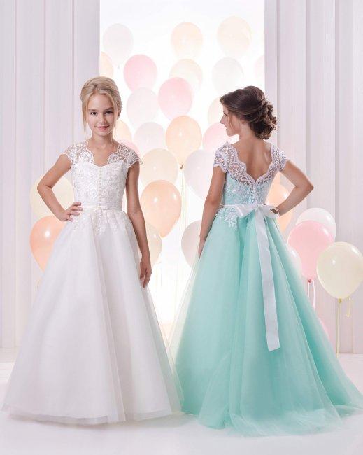 Нежные длинные платья для девочки