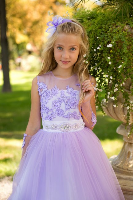 Нежное детское свадебное платье