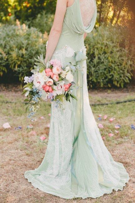 Мятный цвет для невесты