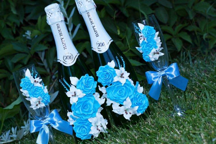 Свадебные бутылки для молодоженов