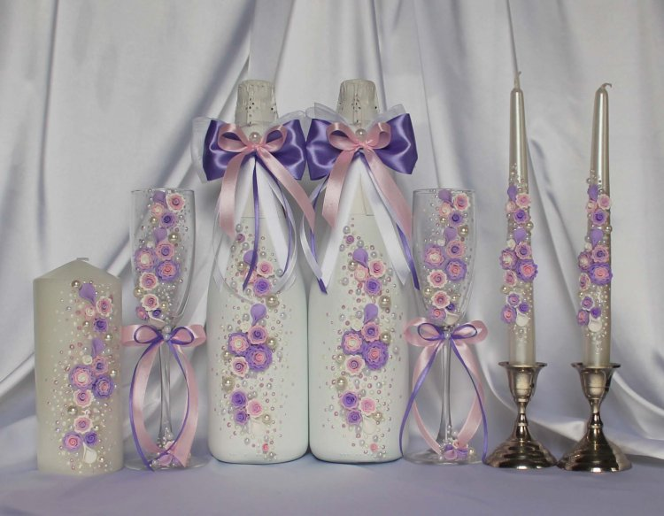 Единство стиля в декоре бутылок