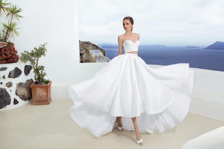 9329c93a0a71bc2 Раздельное свадебное платье (crop top) – топ и юбка отдельно