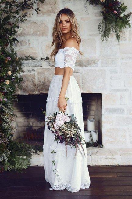 Наряд из легкой ткани для летней свадьбы