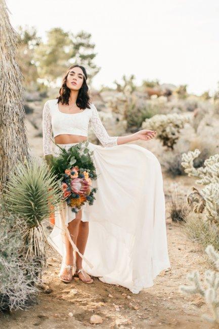 Свадебное платье с раздельными топом и юбкой