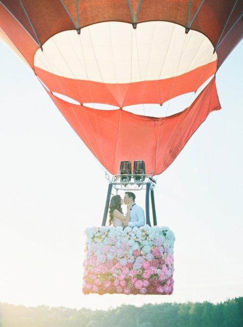 Романтическая фотосессия на воздушном шаре