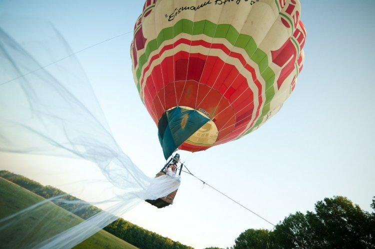 Полет на воздушном шаре для молодоженов