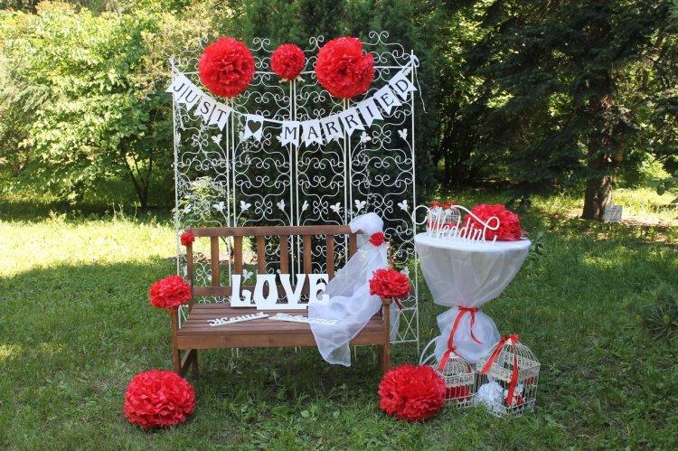 Металлическая свадебная ширма