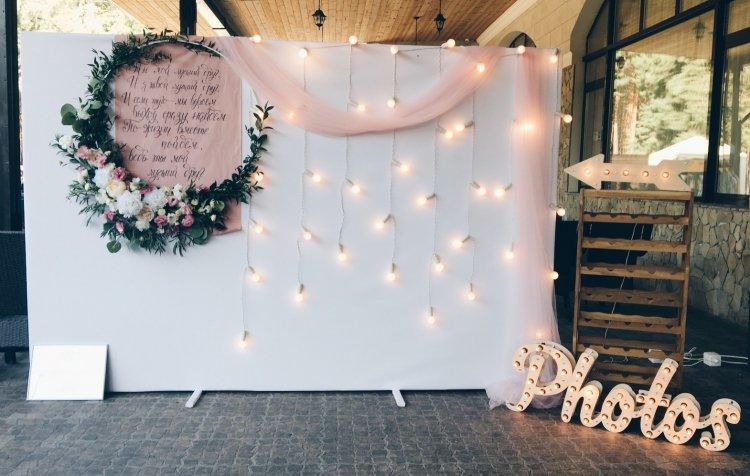 Пластиковая свадебная ширма