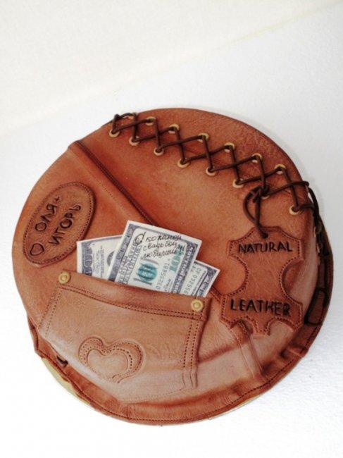 Торт на кожаную свадьбу (3 года)