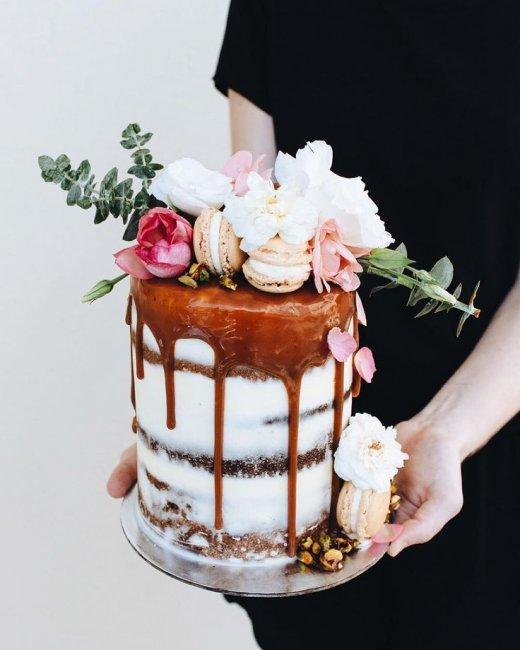 Торт на льняную свадьбу (4 года)