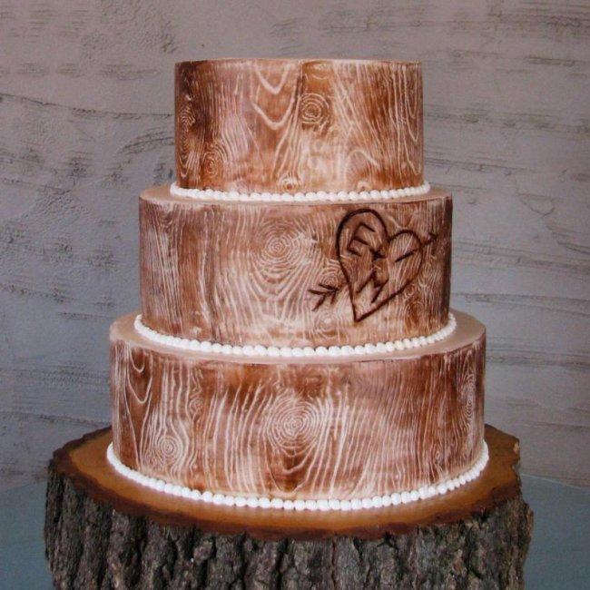 Торт на деревянную свадьбу (5 лет)