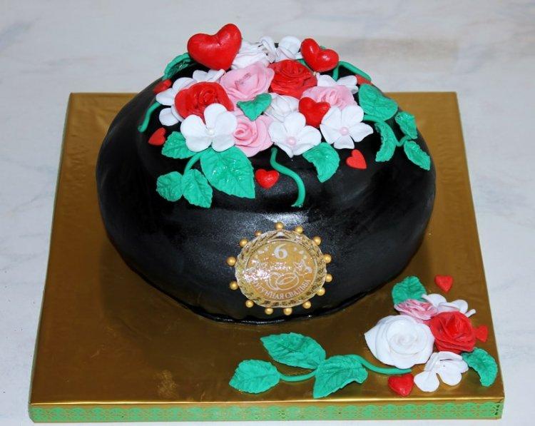 Торт на чугунную свадьбу (6 лет)