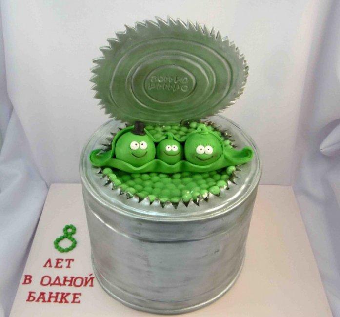 Торт на жестяную свадьбу (8 лет)