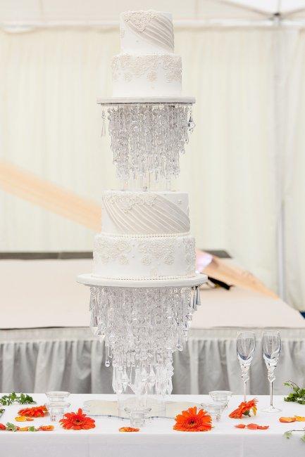 Торт на хрустальную свадьбу (15 лет)