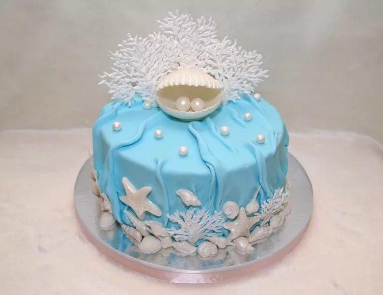 Торт на жемчужную свадьбу (30 лет)