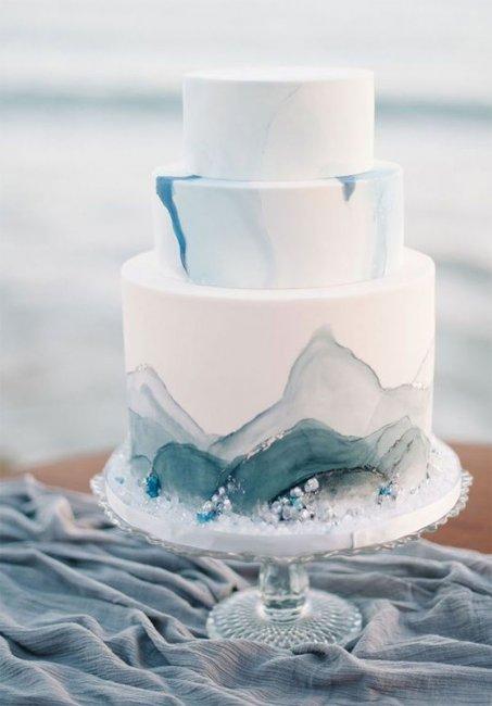 Торт на сапфировую свадьбу (45 лет)