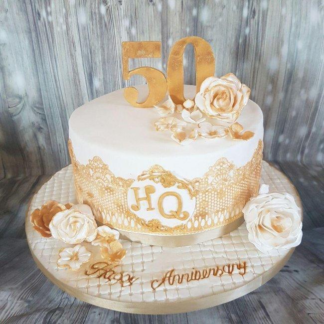 Торт на золотую свадьбу (50 лет)