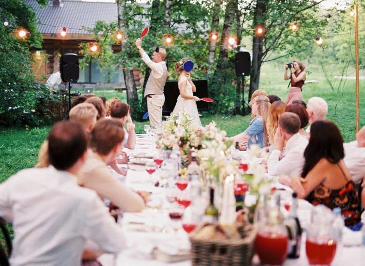 Празднование свадьбы