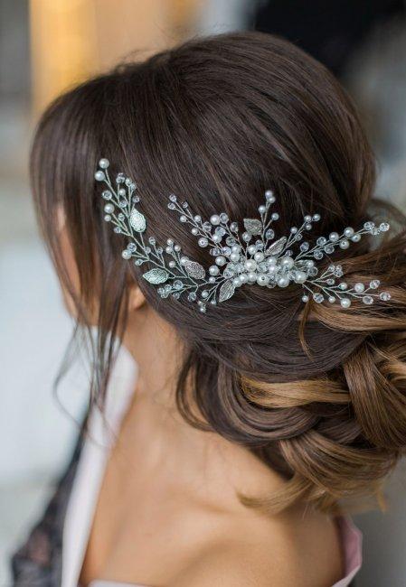 37f7411931995a2 Свадебные украшения для невесты своими руками: заколка, гребень, повязка