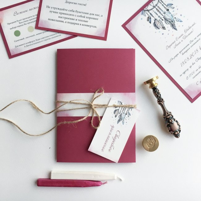 Как подписывать приглашения на свадьбу