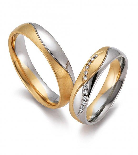 Комбинированные обручальные кольца из трех видов золота ... Самое Дорогое Кольцо с Бриллиантом