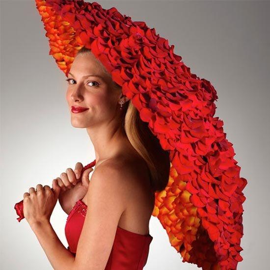 Аксессуар для фотосессии – зонт с розами