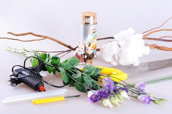 Материалы для изготовления зонта с цветами