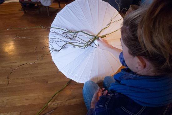 Ветви должны быть длиннее зонта