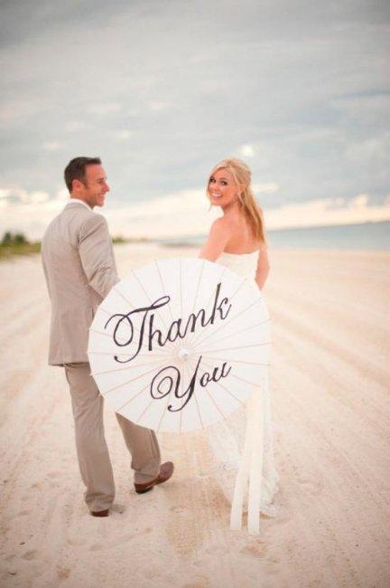 Свадебный аксессуар – зонт с надписью