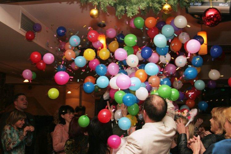 конкурс с шариками и поздравлениями тяжело настраиваю