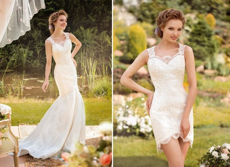 Перешить свадебное платье в вечернее фото