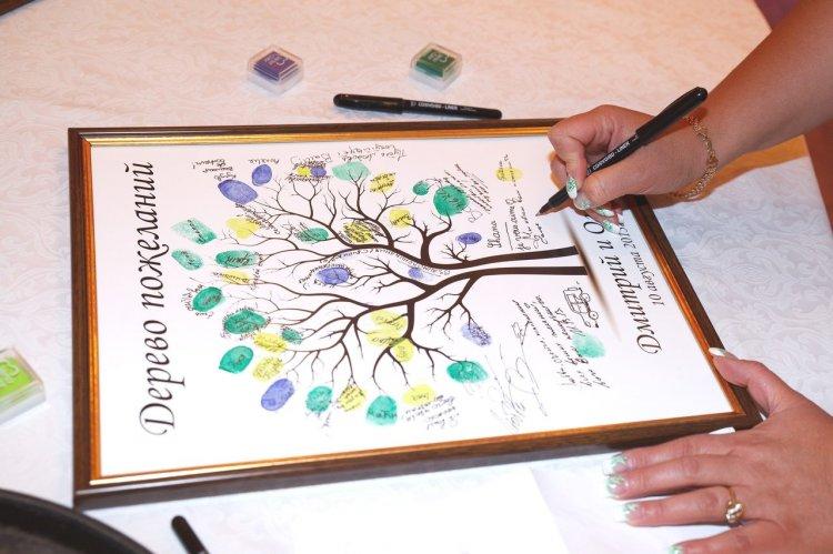 Дерево - альтернатива книги пожеланий